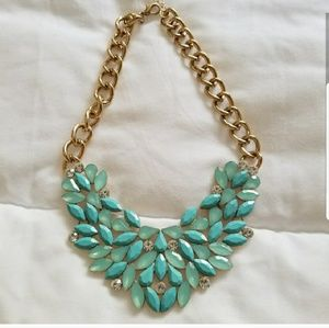 Aquamarine  Stones Necklace